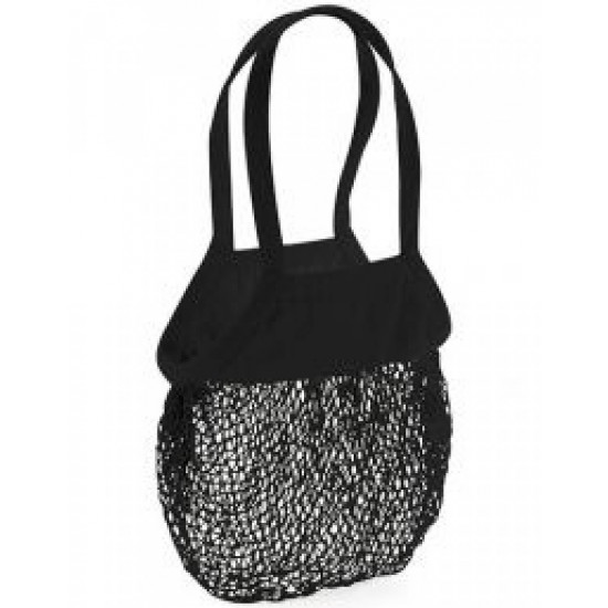 Organic Cotton Mesh Grocery Bag (Zwart)